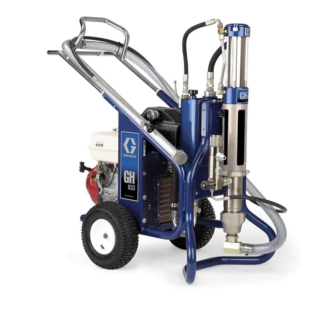Бензиновый аппарат безвоздушного напыления с гидравлическим приводом GH